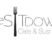 This is the restaurant logo for The Sit Down Cafe & Sushi Bar
