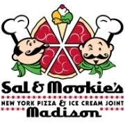 This is the restaurant logo for Sal & Mookie's New York Pizza & Ice Cream Joint - Madison