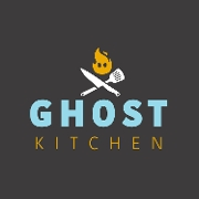 This is the restaurant logo for Ghost Kitchen
