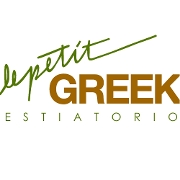 This is the restaurant logo for Le Petit Greek