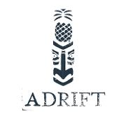 This is the restaurant logo for Adrift Tiki Bar - Broadway