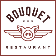 This is the restaurant logo for Bouquet Restaurant