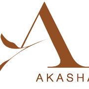 This is the restaurant logo for AKASHA -