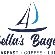 This is the restaurant logo for Bella's Bagels