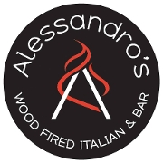 This is the restaurant logo for Alessandro's Wood Fire Italian and Bar