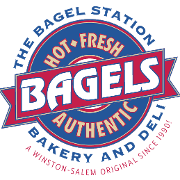 This is the restaurant logo for Bagel Station - Peace Haven Rd