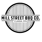 This is the restaurant logo for Mill Street BBQ Co.
