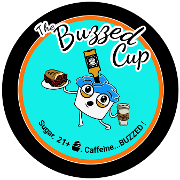 This is the restaurant logo for Buzzed Cup