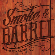 This is the restaurant logo for Smoke and Barrel