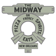 This is the restaurant logo for Midway Pizza