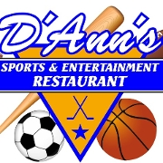 This is the restaurant logo for D'Ann's Sports & Entertainment Restaurant