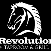 This is the restaurant logo for Revolution Taproom & Grill