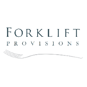 This is the restaurant logo for Forklift Provisions