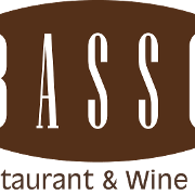 This is the restaurant logo for Basso Restaurant & Wine Bar