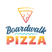 This is the restaurant logo for Boardwalk Pizza