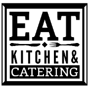 This is the restaurant logo for EAT Kitchen and Catering