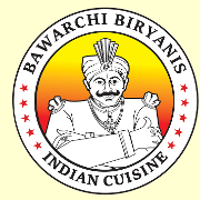 This is the restaurant logo for Bawarchi Biryanis