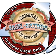 This is the restaurant logo for Bagel Brothers of New York