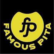 This is the restaurant logo for Famous Pita