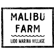 This is the restaurant logo for Malibu Farm