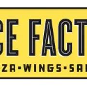 This is the restaurant logo for Slice Factory