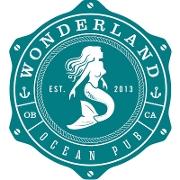This is the restaurant logo for Wonderland Ocean Pub