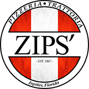 This is the restaurant logo for ZIPS' NYC Pizza - Jupiter, FL