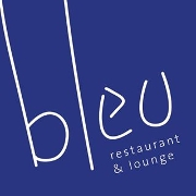 This is the restaurant logo for Bleu Restaurant & Lounge
