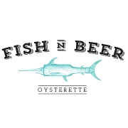 This is the restaurant logo for Fish N' Beer