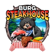 This is the restaurant logo for Burg Steakhouse
