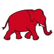 This is the restaurant logo for Red Elephant