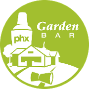 This is the restaurant logo for Garden Bar PHX