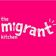 This is the restaurant logo for The Migrant Kitchen