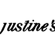 This is the restaurant logo for Justine's Brasserie
