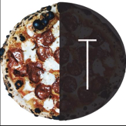 This is the restaurant logo for Talula's Pizza