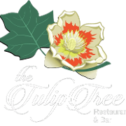 This is the restaurant logo for The Tulip Tree
