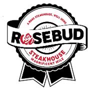 This is the restaurant logo for Rosebud Steakhouse