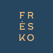 This is the restaurant logo for FRÉSKO Greek Kitchen