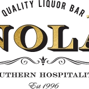 This is the restaurant logo for Nola Restaurant and Bar