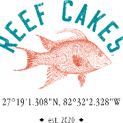 This is the restaurant logo for Reef Cakes