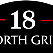 This is the restaurant logo for 18 North Grill