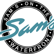 This is the restaurant logo for Sams on the Waterfront