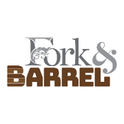This is the restaurant logo for Fork & Barrel