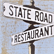 This is the restaurant logo for State Road