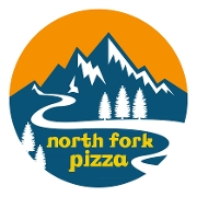 This is the restaurant logo for North Fork Pizza