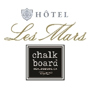 This is the restaurant logo for Hôtel Les Mars 𓆦 Chalkboard Restaurant