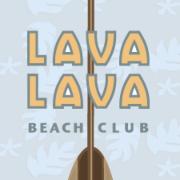 This is the restaurant logo for Lava Lava Beach Club - Big Island