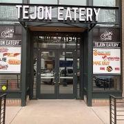 This is the restaurant logo for Tejon Eats