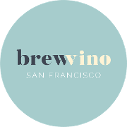 This is the restaurant logo for BrewVino, SF