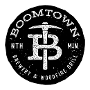 Restaurant logo for BoomTown Woodfire Grill